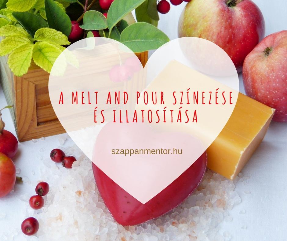 A Melt and Pour szinezese és illatositasa